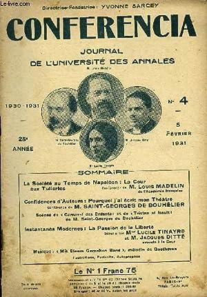CONFERENCIA 25e ANNEE N°4 - La Société au Temps de Napoléon : La Couraux ...