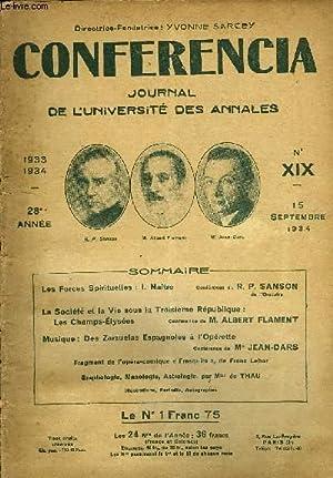CONFERENCIA 28e ANNEE N°19 - Les Forces Spirituelles : I. Naître Conférence du R. ...