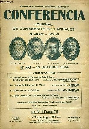 CONFERENCIA 28e ANNEE N°21 - La Société sous la Troisième Ré...