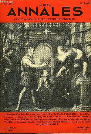 LES ANNALES 63e ANNEE N°70 - Si le poignard de Ravaillac avait glissé, par le Duc de LÉVIS MIREPOIX...