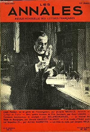 LES ANNALES 64e ANNEE N°82 - Louis Pasteur, ou le génie de /'investigation, par ...