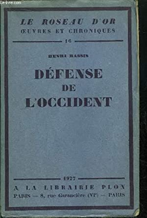 DEFENSE DE L'OCCIDENT: MASSIS HENRI