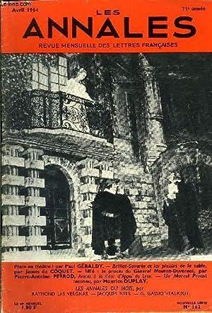 LES ANNALES 71e ANNEE N°162 - Place au théâtre ! par Paul GÉRALDY. — ...
