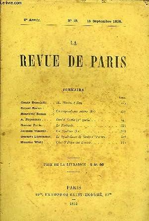REVUE DE PARIS 2e ANNEE N°18 - Comte Benedetti . .Ma Mission à Ems .Ernest Renan .( Correspondance ...