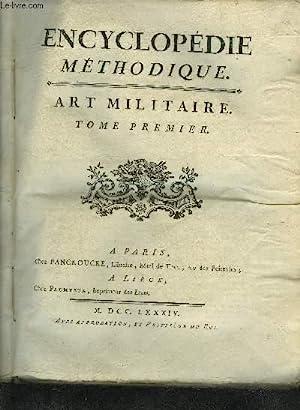 ENCYCLOPEDIE METHODIQUE - ART MILITAIRE - 3: DIDEROT ET D'ALEMBERT
