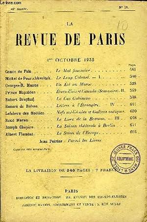 REVUE DE PARIS 40e ANNEE N°19 -: COLLECTIF