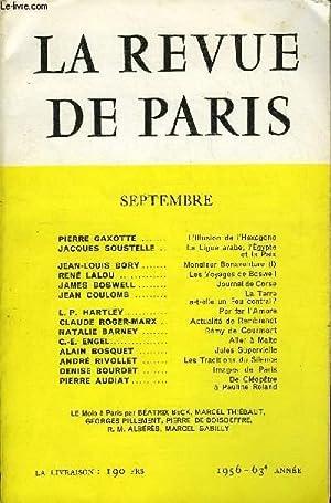 REVUE DE PARIS 63e ANNEE N°9 - PIERRE GAXOTTE . L'Illusion de l'HexagoneJACQUES SOUSTELLE ...