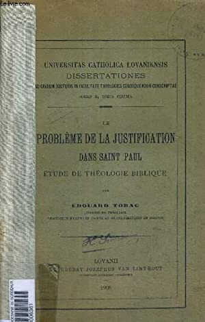 LE PROBLEME DE LA JUSTIFICATION DANS SAINT PAUL - ETUFDE THEOLOGIE BIBLIQUE - UNIVERSITAS CATHOLICA...