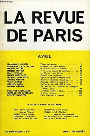 REVUE DE PARIS 76r ANNEE N°4 -: COLLECTIF