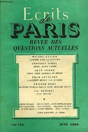 ECRITS DE PARIS - REVUE DES QUESTIONS ACTUELLES N°161 - MICHEL DACIER Euphorie dans la confusion ....