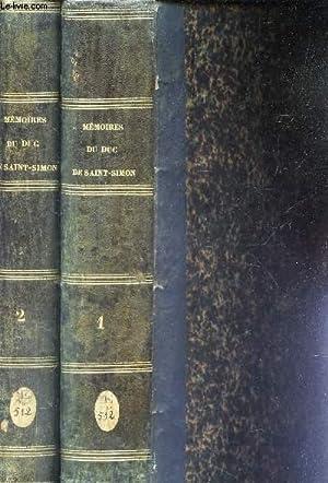 MEMOIRES COMPLETS ET AUTHENTIQUES DU DUC DE SAINT-SIMON - EN 2 VOLUMES (TOMES 1 (1ere, 2e et 3e ...