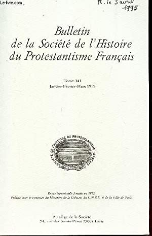 Bulletin de la société de l'Histoire du: COLLECTIF