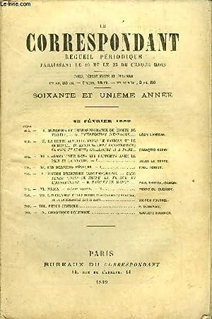 LE CORRESPONDANT TOME 118 N° 634 - I.MÉMOIRES ET CORRESPONDANCE Dü COMTE DEVILL&...