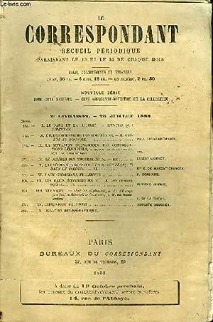 LE CORRESPONDANT TOME 116 N° 620 - I. LE PAPE ET LA LIBERTÉ. - L'ENCYCLIQUE LJBERTAS. &#...