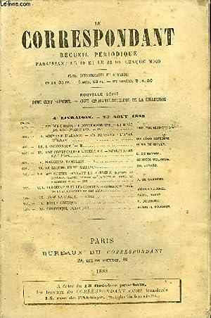LE CORRESPONDANT TOME 116 N° 622 - I.ÉTUDES D'HISTOIRE CONTEMPORAINE.— LA MORTDU DUC D'...