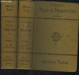 PRECIS DE THERAPEUTIQUE - TOME 1 + 2 EN 2 VOL. / 2e EDITION - COLLECTION TESTUT: ARNOZAN ...