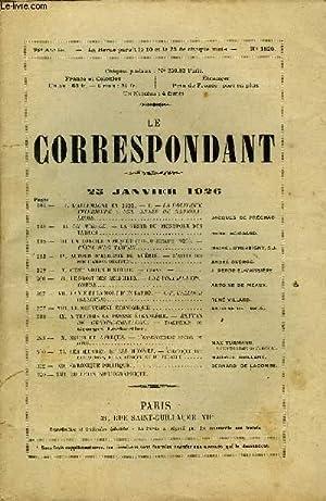 LE CORRESPONDANT TOME 266 N° 1520 - I. L ALLEMAGNE EN 1925.   L   LA POLITIQUE INTÉRIEURE : UNE ...