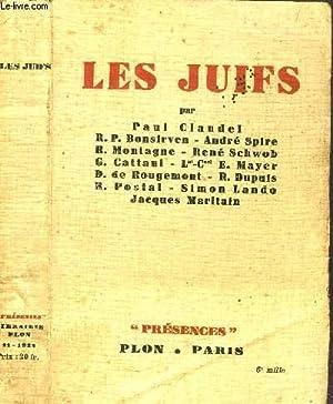 """LES JUIFS - COLLECTION """"PRESENCES"""": COLLECTIF"""