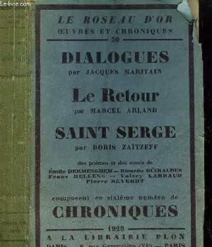 SIXIEME NUMERO DE CHRONIQUES - LE ROSEAU D'OR N°30: MARITAIN JACQUES