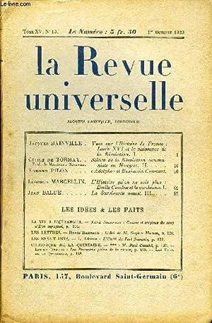 LA REVUE UNIVERSELLE TOME 15 N°13 - Jacques BAINVILLE. Vues sur l'Histoire de France :...