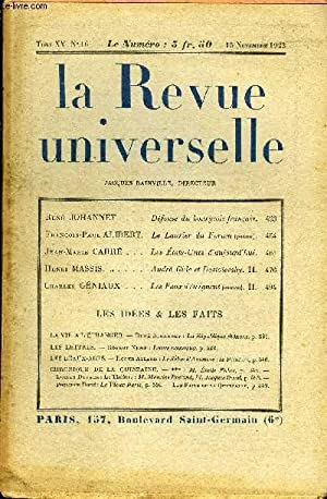 LA REVUE UNIVERSELLE TOME 15 N°16 -: COLLECTIF