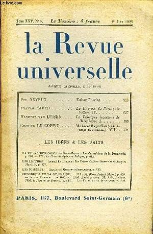 LA REVUE UNIVERSELLE TOME 25 N°5 - Pol NEVEUX. Tolosa Turrita. Francis CARCO. Le Roman de Fran&...