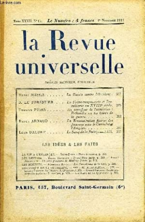 LA REVUE UNIVERSELLE TOME 27 N°15 - Henri MASSIS. La Russie contre L'Occident .R. LE ...