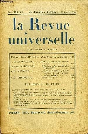 LA REVUE UNIVERSELLE TOME 30 N°8 - Jérôme et Jean THARAUD. Petite Histoire des ...