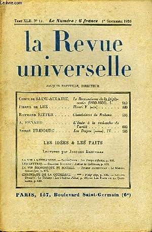 LA REVUE UNIVERSELLE TOME 42 N°11 - Comte de SAINT-AULAIRE. Le Romantisme de la Diplomatie (...