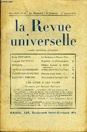 LA REVUE UNIVERSELLE TOME 44 N°19 -: COLLECTIF