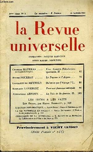LA REVUE UNIVERSELLE NOUVELLE SERIE N°2 - Charles MAURRAS de l'Académie française...