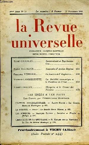 LA REVUE UNIVERSELLE NOUVELLE SERIE N°22 -: COLLECTIF