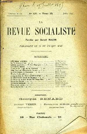 LA REVUE SOCIALISTE TOME 22 N° 127 - L'Évolution socialiste — A. Millerand.Le Pé...