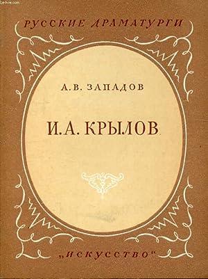 OUVRAGE EN RUSSE (IVAN ANDREEVITCH KRYLOV, 1769-1844) (VOIR PHOTO POUR DESCRIPTION DU TEXTE): ...