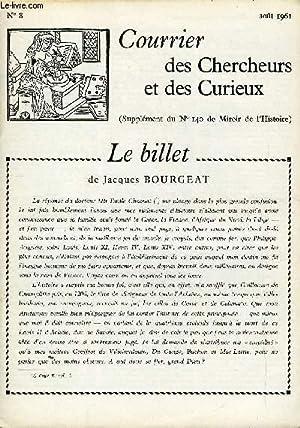 COURRIER DES CHERCHEURS ET DES CURIEUX N°: COLLECTIF