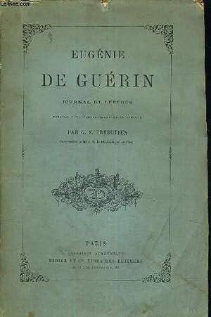 EUGENIE DE GUERIN - JOURNAL ET LETTRES + ENVOI DE L'AUTEUR: TREBUTIEN G.S.