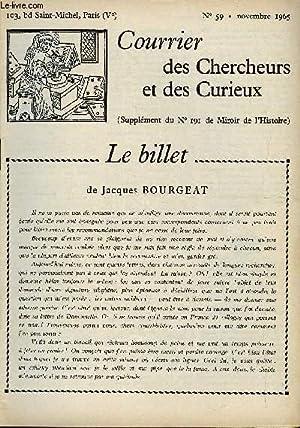 COURRIER DES CHERCHEURS ET DES CURIEUX N° 59 - Sur un théatre qui était situ&...