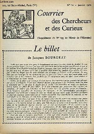 COURRIER DES CHERCHEURS ET DES CURIEUX N° 61 - Sur les gentilshommes-verriers de la foret de ...