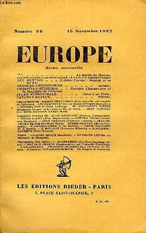 EUROPE REVUE MENSUELLE N° 59 - **: COLLECTIF