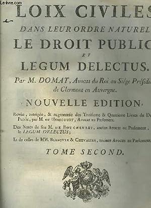 LES LOIX CIVILES DANS LEUR ORDRE NATUREL: M.DOMAT