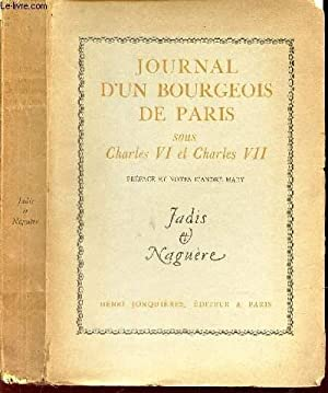 JOURNAL D UN BOURGEOIS DE PARIS sous: COLLECTIF