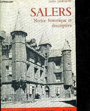 SALERS - NOTICE HISTORIQUES ET DESCRIPTIVE / LE TOURISTE EN AUVERGNE N°54: JALENQUES LOUIS