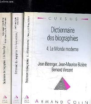 DICTIONNAIRE DES BIOGRAPHIES - TOME 2 LE MOYEN AGE + 3 LA FRANCE MODERNE + 4 LE MONDE MODERNE EN 3 ...