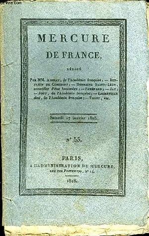 MERCURE DE FRANCE N°55 - Oeuvres de Francois-Guillaume-Jean-Stanislas Andrieux, membre de l'...
