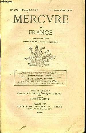 MERCURE DE FRANCE N° 273 - TOME: COLLECTIF
