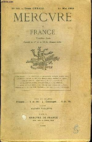 MERCURE DE FRANCE N° 501 - TOME: COLLECTIF