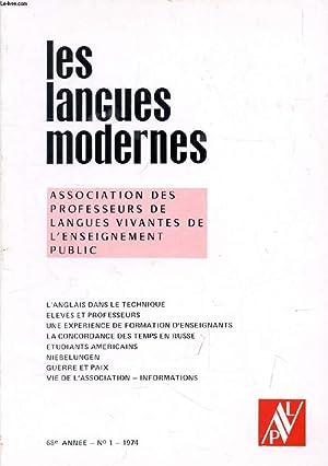 LES LANGUES MODERNES, 68e ANNEE, N° 1,: COLLECTIF