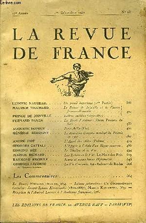 LA REVUE DE FRANCE 17e ANNEE N°23 - LUDOVIC NAUDEAU. Un grand Reportage (1re Partie).MAURICE ...
