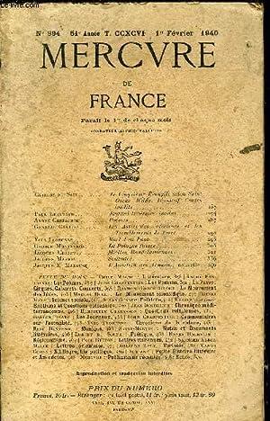 MERCURE DE FRANCE N° 994 - TOME CCXCVI - Guillot de Saix. Le Cinquième Evangile selon ...