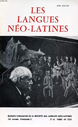 LES LANGUES NEO-LATINES, 74e ANNEE, N° 233,: COLLECTIF